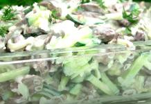 Тёплый салат по-корейски