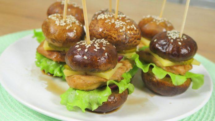 Закусочные бургеры из шампиньонов