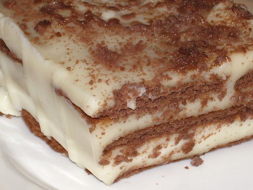 рецепт торта из бананов и печенья