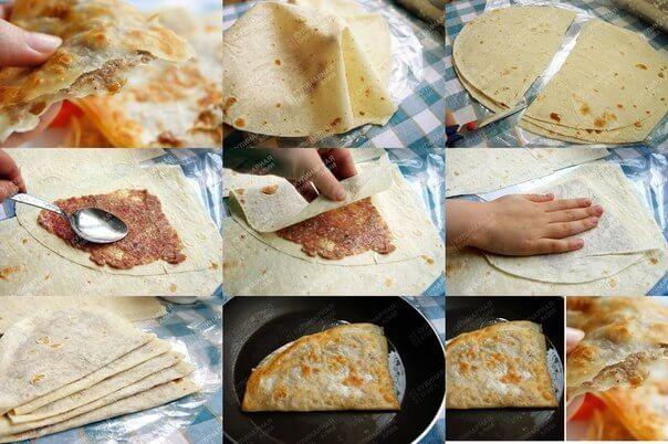 рецепт чебуреки из лаваша с фото