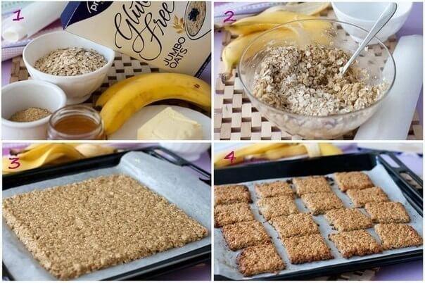 Печенье геркулесовое с бананами