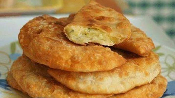 Чебуреки с сыром и картофелем
