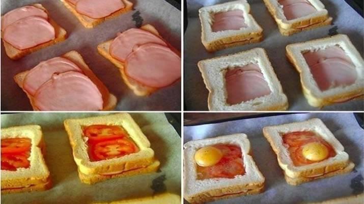 Бутерброды на завтрак оригинального оформления