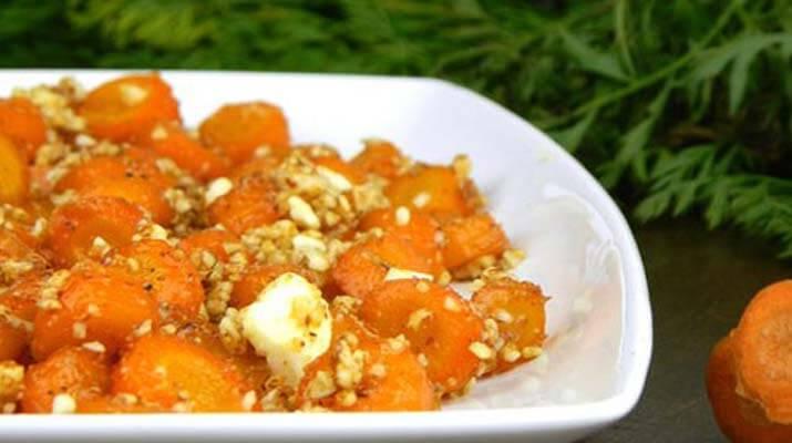 Глазированный морковный салат
