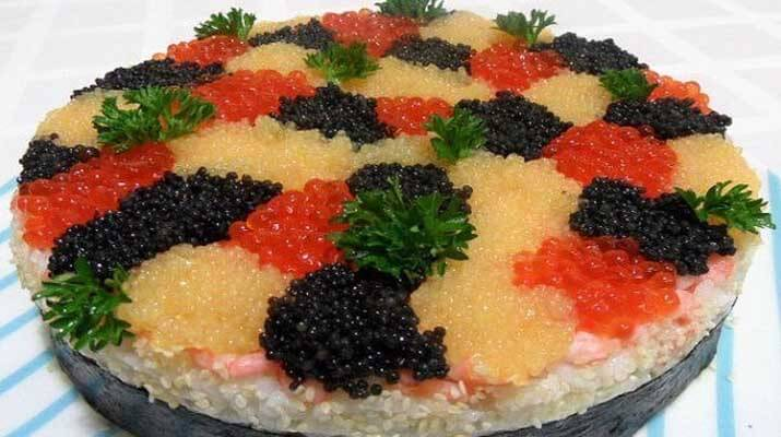 Суши-торт-салат «3 ИКРИНКИ»
