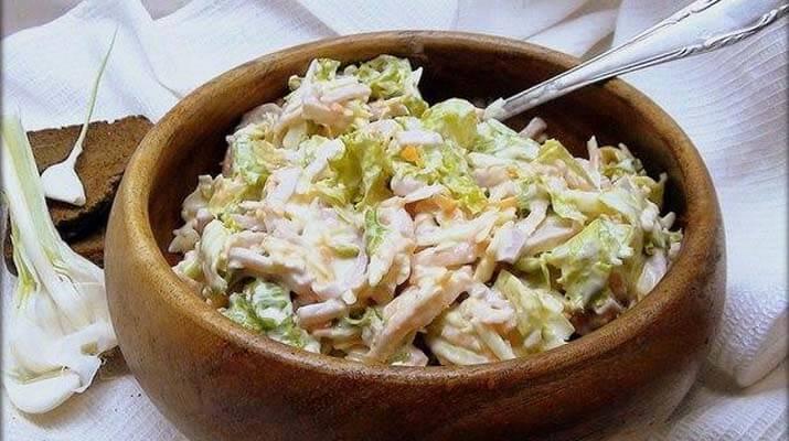 Овощной салат с ветчиной и сыром