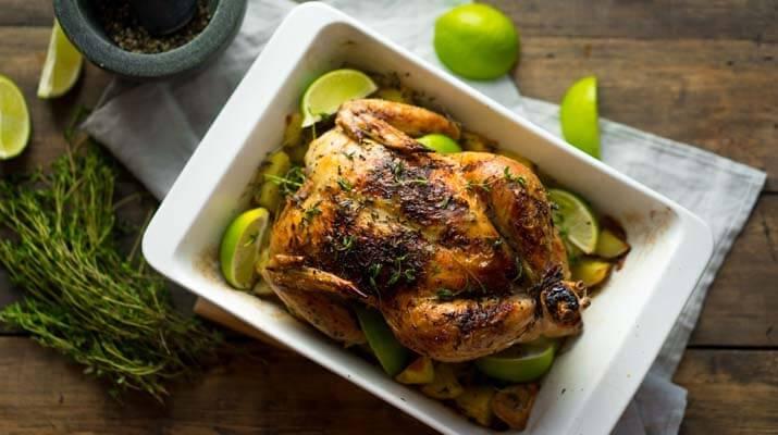 Запечённая курица с лимоном