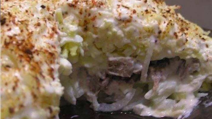 Пасхальный салат «Цветы»