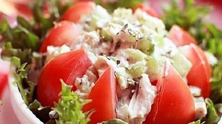 Салат из курицы с помидорами «ШИК»