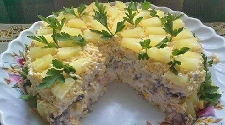 Бесподобный салатный торт «Чудо», такого вы еще не пробовали