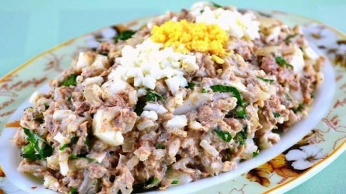 Рыбно – рисовый салат