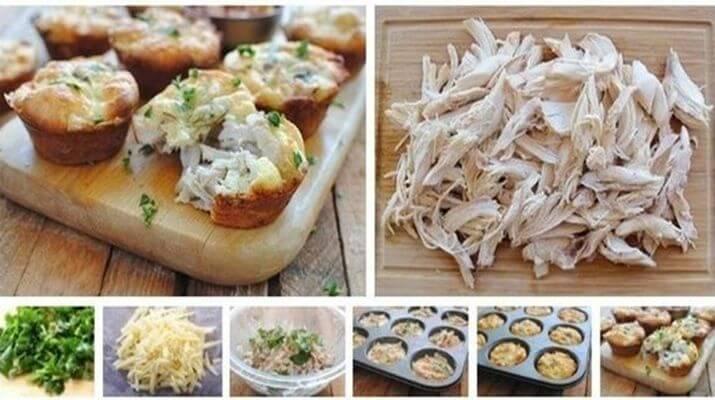 Куриные маффины с сыром