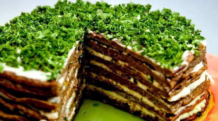 Классический печеночный тортик