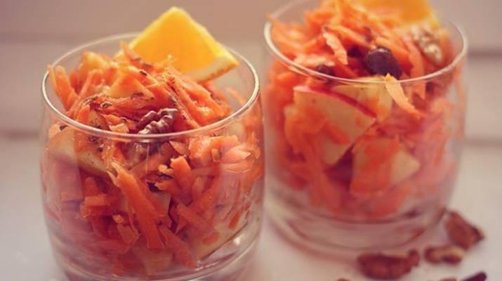 Сладкий морковный салат