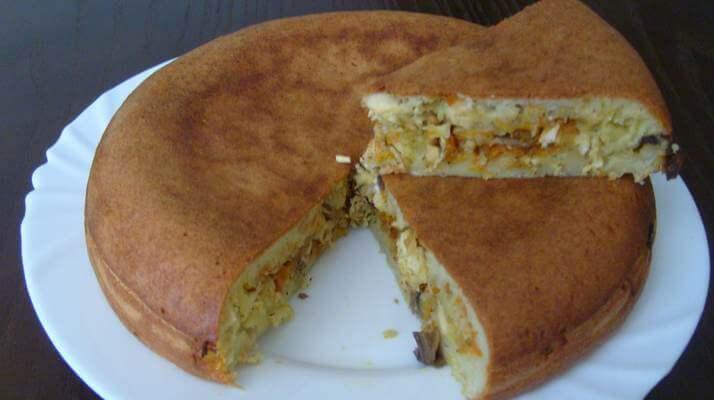 Пирог с грибами из «Мультиварки»