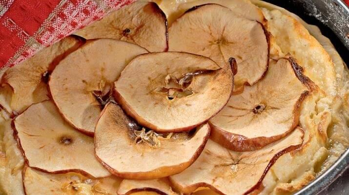 Яблочный чизкейк с хлопьями