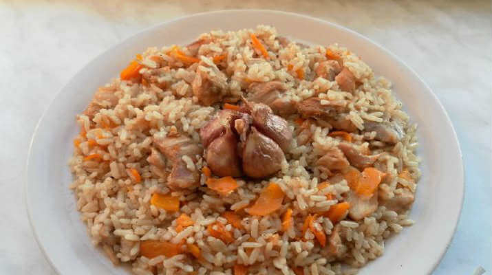 Свинина — «книжка» с ананасом и морковкой