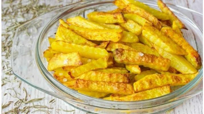 Картошка фри, жареная в рукаве