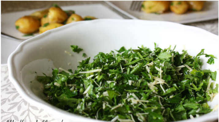 Салат из петрушки и лука