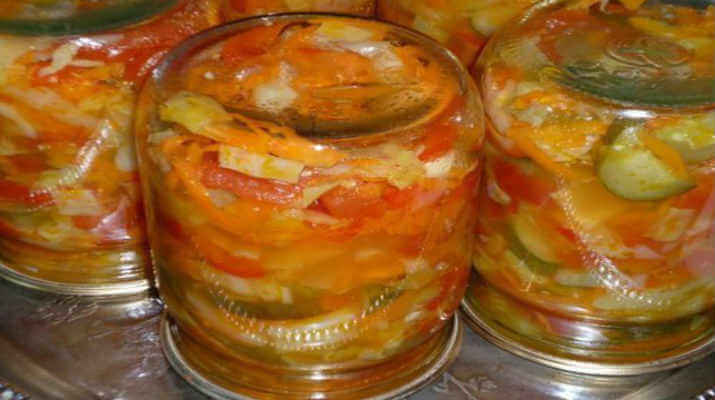 Овощной салат (классический) в зиму