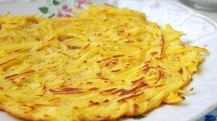 Картофельный блинчик на завтрак