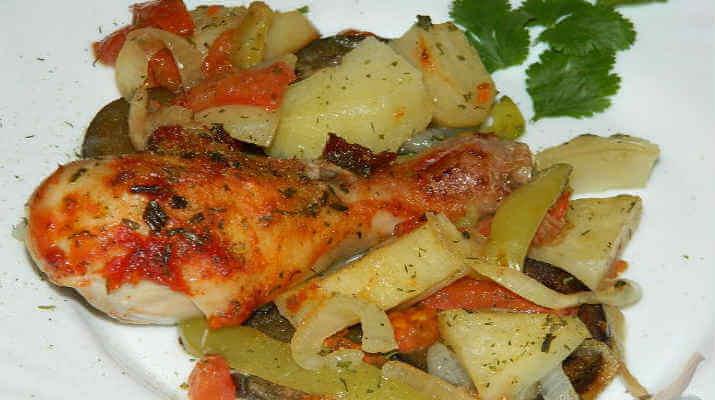 Замечательные и вкусные свиные ребрышки с овощами