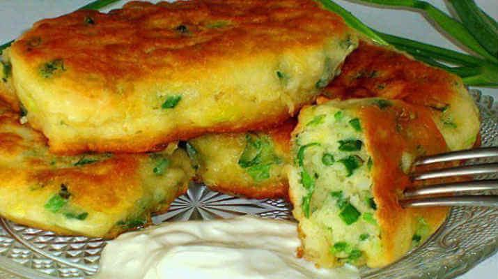 Пирожки с зеленым луком