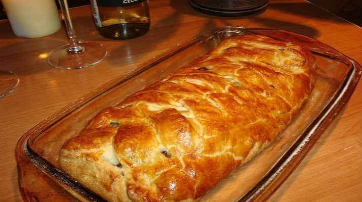 Грибной  пирог на скорую руку