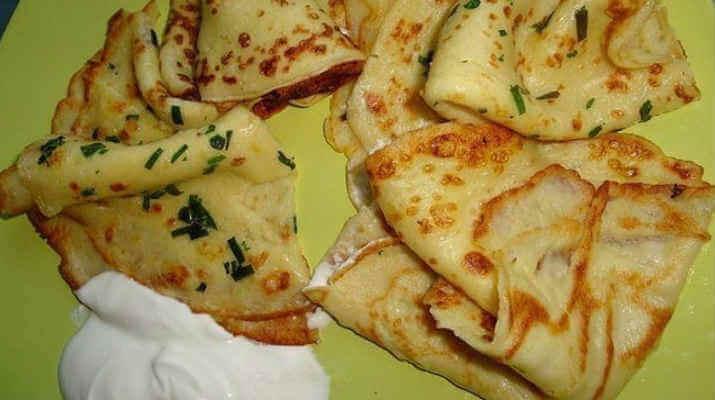 Картофельные блины с зеленью