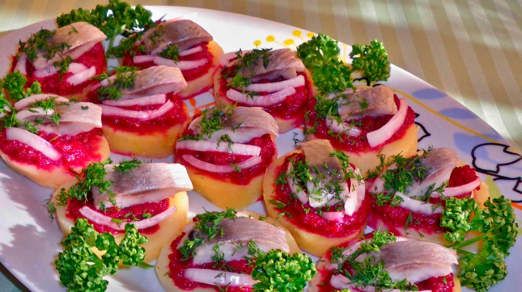 Пошаговые рецепты закусок к праздничному столу фото