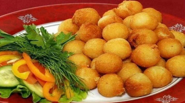 Острые картофельные шарики