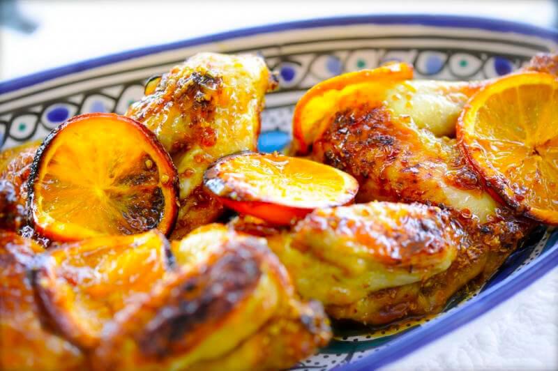 Шикарная и вкусная курица с кусочками апельсина