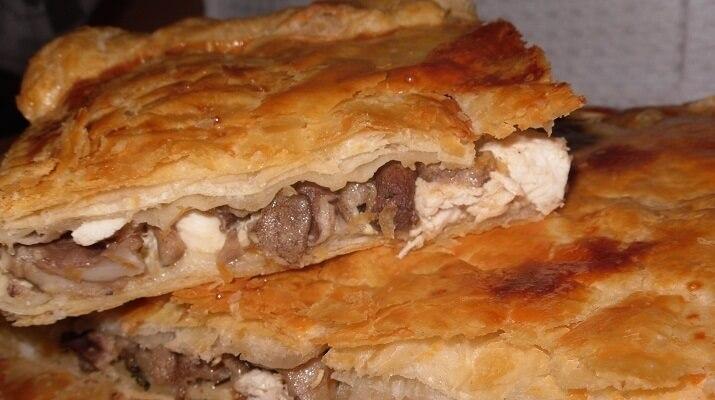 Лоранский пирог с грибами и курицей