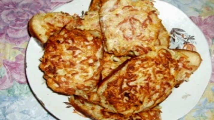 Бутерброды с картофелем и колбасой