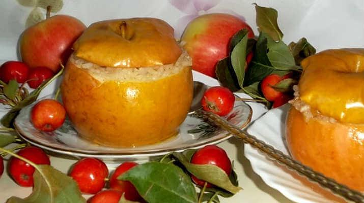 Яблоки, запеченные с изюмом