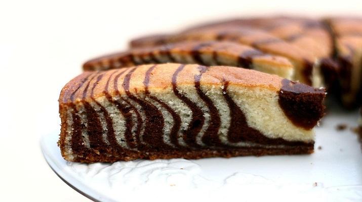«Мраморный кекс» на сгущенке