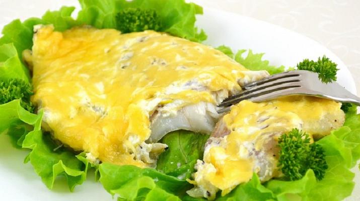 Рыба, запеченная под «шубой» — обалденный вкусный быстрый рецепт!