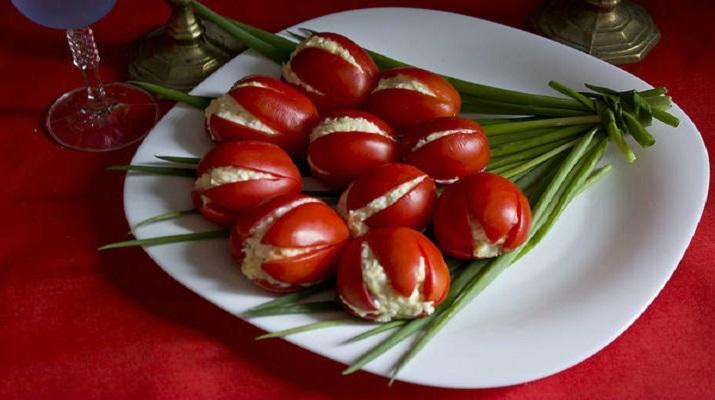 Кулинарный мастер-класс. Салат тюльпаны