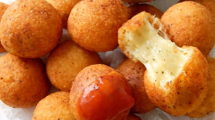 Домашние сырные пончики