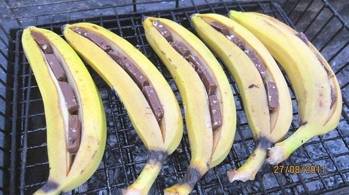 Банан с шоколадом