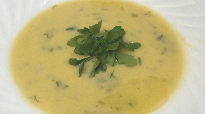 Постный крем-суп с шампиньонами