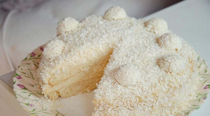 Торт-безе «Рафаэлло» (при диабете и/или при низкоуглеводной диете)