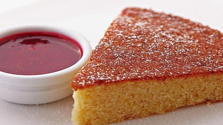 Постный кекс на яблочной сушке