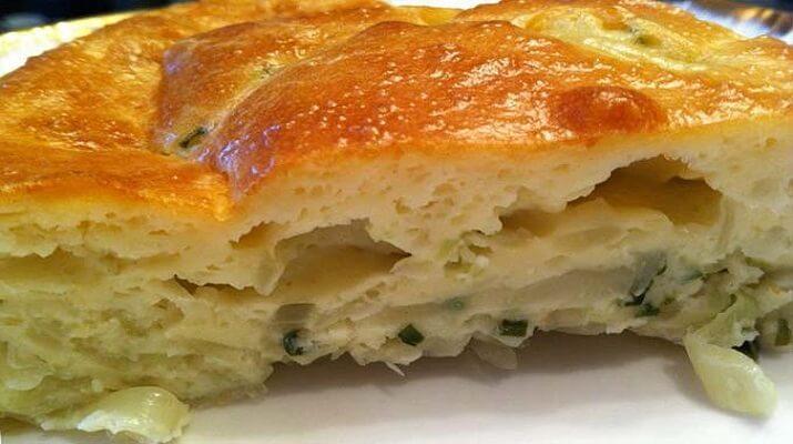 Быстрый заливной пирог с печенью «Народный»
