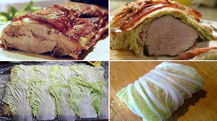 Свинина в капусте — мясо получается сочным, нежным, ароматным