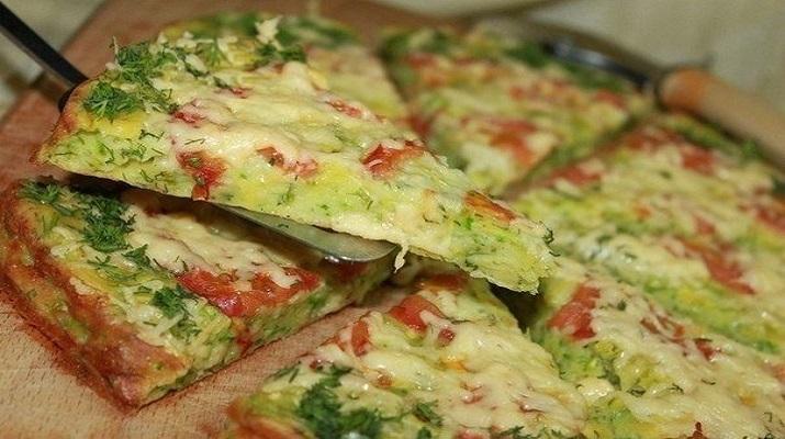 Низкокалорийная пицца из кабачков!
