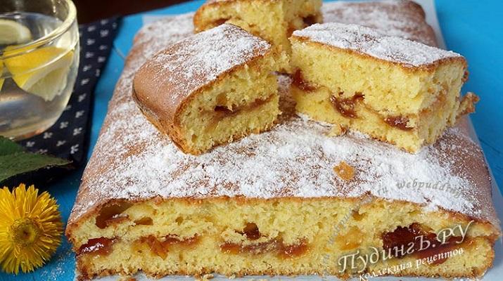 Пирог…два пирога с вареньем на скорую руку