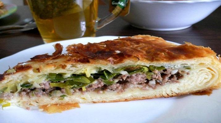 Фытыр мясной — по мотивам египетского слоёного пирога
