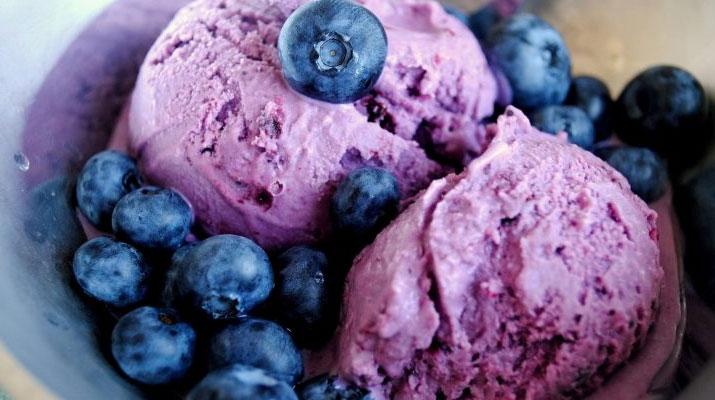 Мороженое из черники