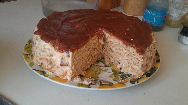 Торт без выпечки из рыбок рецепт